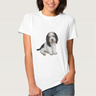 Petit Basset Griffon Vendeen (B) - Black-white sit Tee Shirt