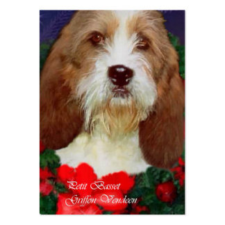 Petit Basset Griffon Vendeen Christmas Gifts Large Business Cards (Pack Of 100)