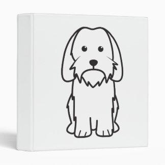 Petit Basset Griffon Vendeen Dog Cartoon Binder