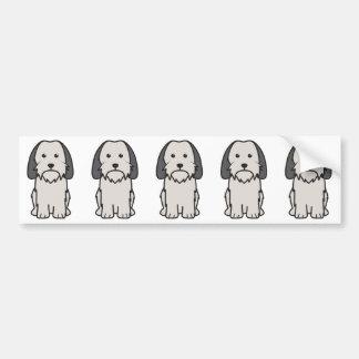 Petit Basset Griffon Vendeen Dog Cartoon Car Bumper Sticker