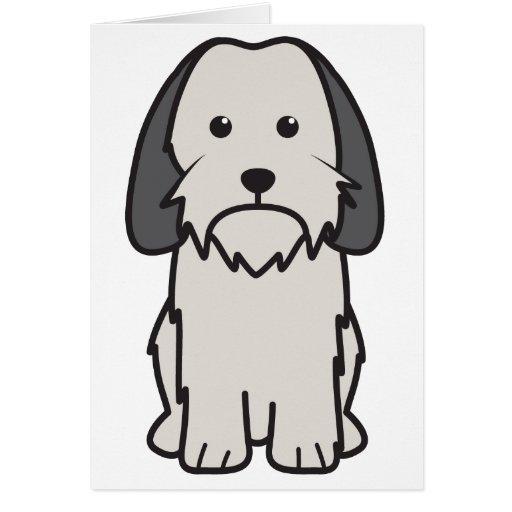 Petit Basset Griffon Vendeen Dog Cartoon Card