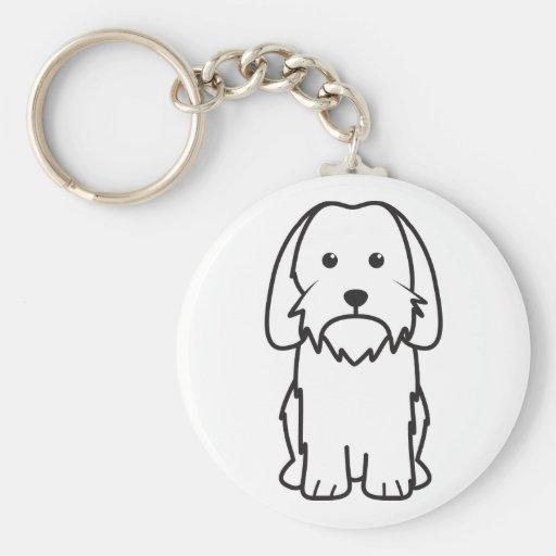 Petit Basset Griffon Vendeen Dog Cartoon Keychain