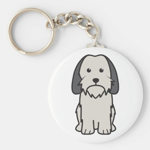 Petit Basset Griffon Vendeen Dog Cartoon Keychains