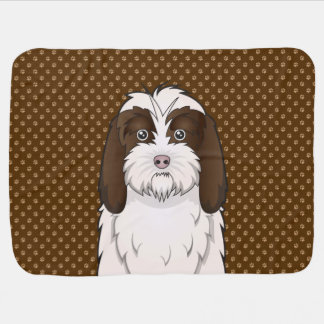 Petit Basset Griffon Vendéen Dog Cartoon Paws Receiving Blanket