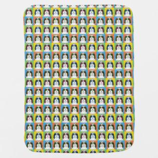 Petit Basset Griffon Vendéen Dog Cartoon Pop-Art Stroller Blankets