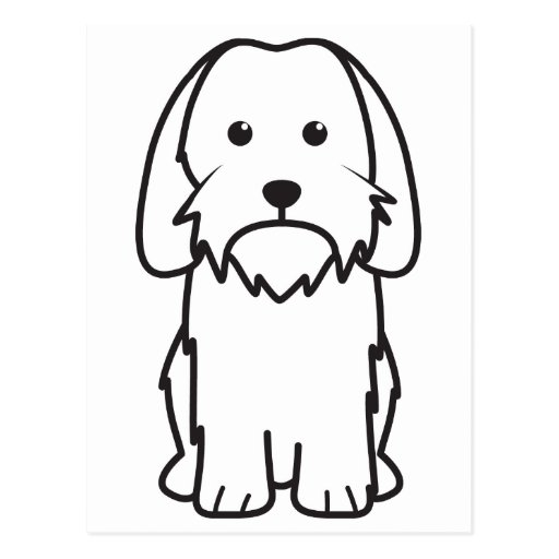 Petit Basset Griffon Vendeen Dog Cartoon Postcards