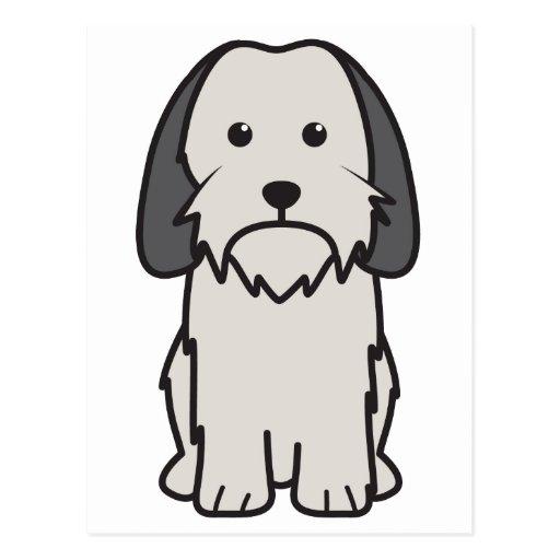 Petit Basset Griffon Vendeen Dog Cartoon Post Card