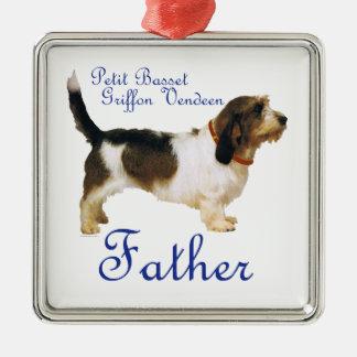 Petit Basset Griffon Vendeen Father Metal Ornament