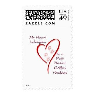 Petit Basset Griffon Vendéen Heart Belongs Postage Stamp