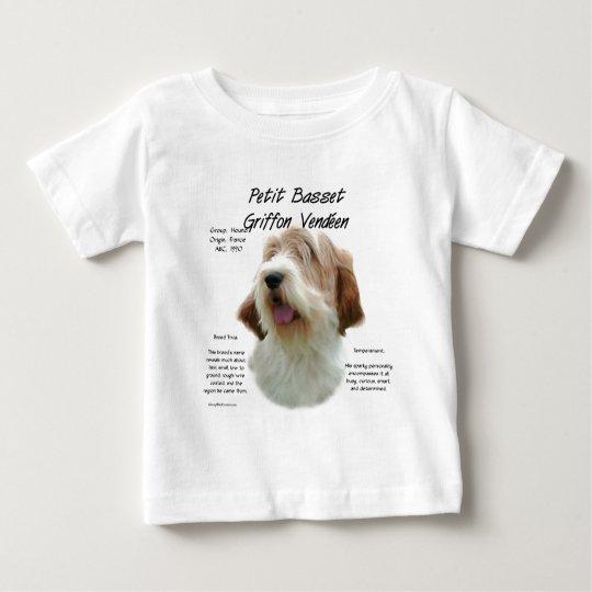 Petit Basset Griffon Vendeen History Design Baby T-Shirt