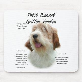 Petit Basset Griffon Vendeen History Design Mousepads