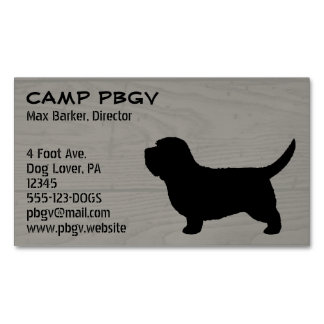 Petit Basset Griffon Vendeen PBGV Silhouette Magnetic Business Card