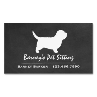 Petit Basset Griffon Vendeen PBGV Silhouette Magnetic Business Cards (Pack Of 25)