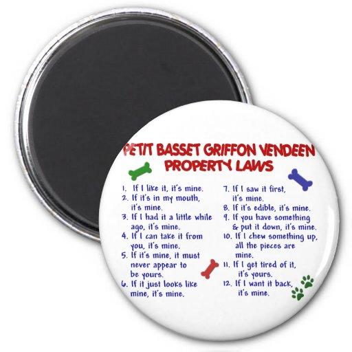 PETIT BASSET GRIFFON VENDEEN Property Laws 2 Magnets