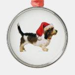 Petit Basset Griffon Vendeen Santa's Helper Christmas Ornament