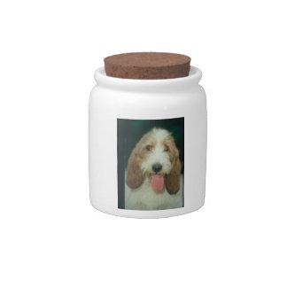 Petit Basset Griffon Vendeen Smiling Candy Jar