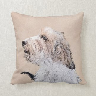 Petit Basset Griffon Vendéen Throw Pillow