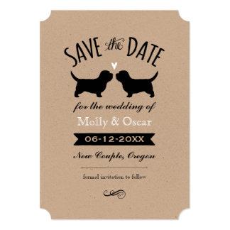 Petit Basset Griffon Vendeen Wedding Save the Date Card