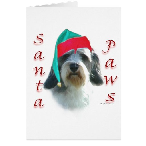 Petit Basset Griffon Venden Santa Paws Greeting Card
