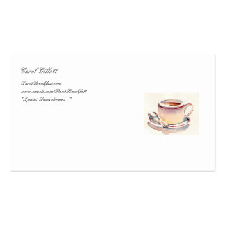 Petit Dejeuner Biz card Double-Sided Standard Business Cards (Pack Of 100)