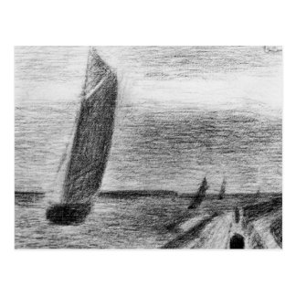 Petit-Fort-Philippe by Georges Seurat Postcard