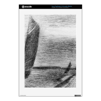 Petit-Fort-Philippe by Georges Seurat Skin For PS3 Console