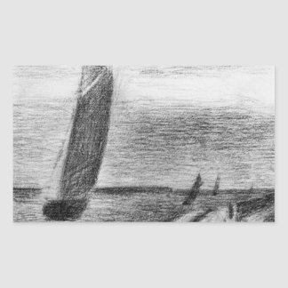 Petit-Fort-Philippe by Georges Seurat Rectangle Sticker