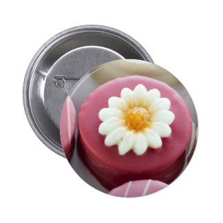 Petit Four with Flower Button