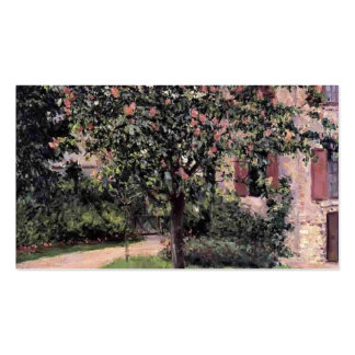 Petit Gennevilliers, Facadeby Gustave Caillebotte Double-Sided Standard Business Cards (Pack Of 100)