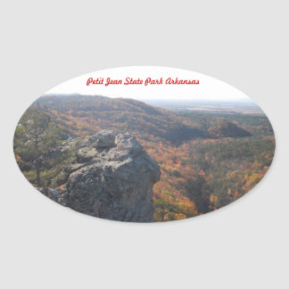 Petit Jean State Park Arkansas Oval Sticker