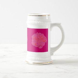 Petit Point Pink Rose 18 Oz Beer Stein