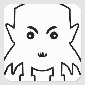 Petit Vampire Cartoon Illustration Square Sticker