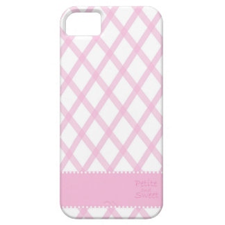 Petite and Sweet pink and white iphone case