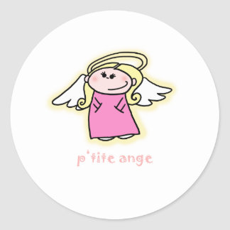 Petite Ange (little angel in French) Classic Round Sticker