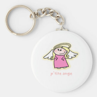 Petite Ange (little angel in French) Basic Round Button Keychain