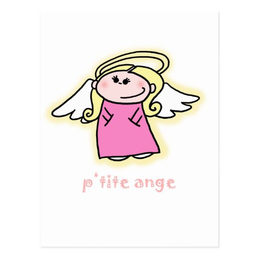 Petite Ange (little angel in French) Postcard