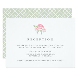 Petite Bouquet Reception Card | Blush