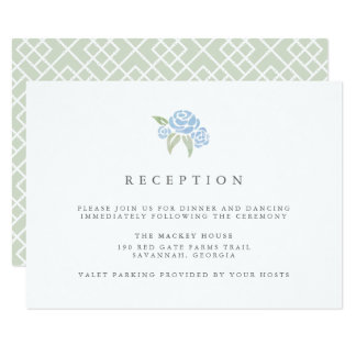 Petite Bouquet Reception Card | Cornflower