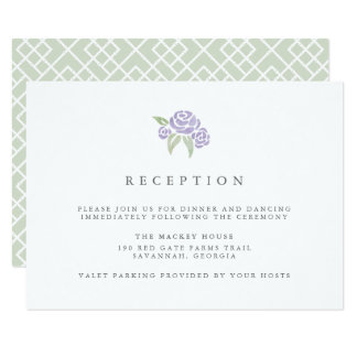 Petite Bouquet Reception Card | Lilac
