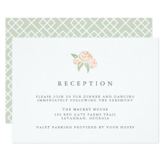 Petite Bouquet Reception Card | Peach