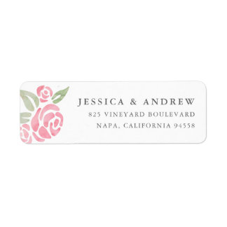 Petite Bouquet Return Address Labels | Blush