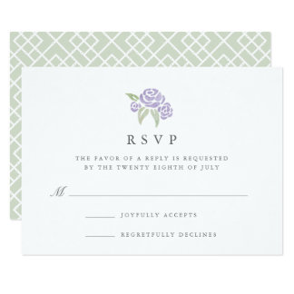 Petite Bouquet RSVP Card | Lilac