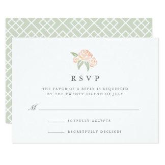 Petite Bouquet RSVP Card | Peach