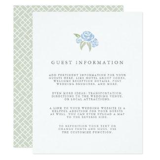 Petite Bouquet Wedding Guest Details Card | Blue