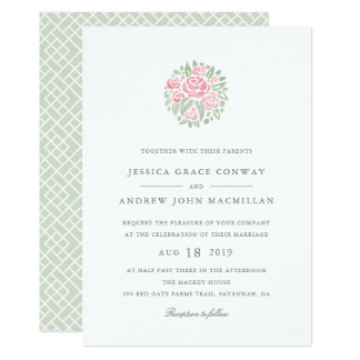 Petite Bouquet Wedding Invitation | Blush