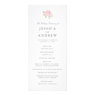 Petite Bouquet Wedding Program | Blush