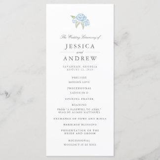 Petite Bouquet Wedding Program   Cornflower Blue