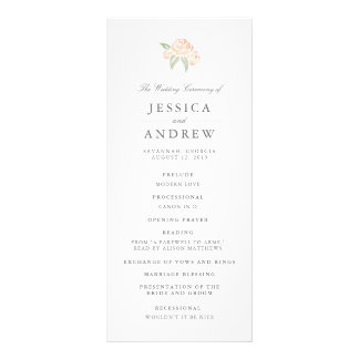 Petite Bouquet Wedding Program | Peach