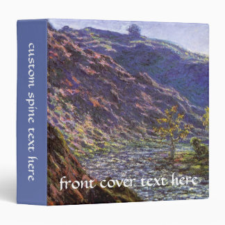 Petite Creuse, Sunlight by Claude Monet 3 Ring Binder