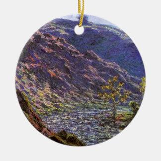 Petite Creuse, Sunlight by Claude Monet Ceramic Ornament